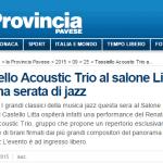 acoustic trio la provincia
